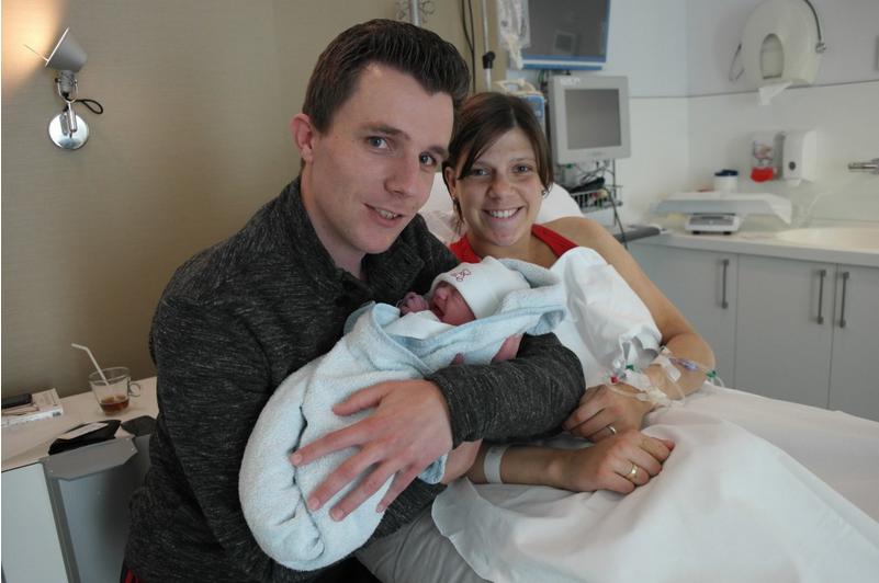 Trotse ouders 1,5 uur na de bevalling!