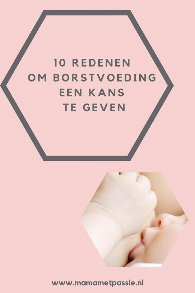 10 redenen om borstvoeding een kans te geven