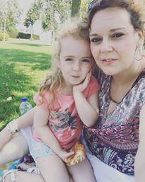 Lieve blogvriendinnetje Linda met haar prachtige dochter Ivy